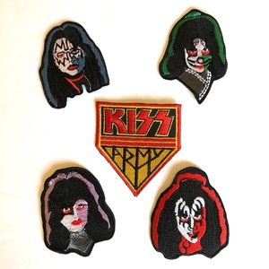 Other - Kiss Patches, Iron On Patch, Kiss Band, Retro, DIY